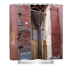 Colored Textures Shower Curtain by Bob Phillips