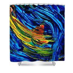 Colorful Abstract Art - Energy Flow 3 - By Sharon Cummings Shower Curtain by Sharon Cummings