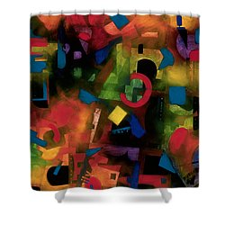 colorful abstract art - Jazz Time Shower Curtain