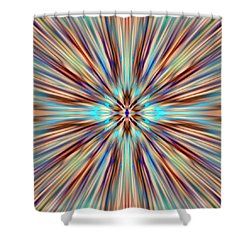 Colorful Abstract Shower Curtain by Cassie Peters