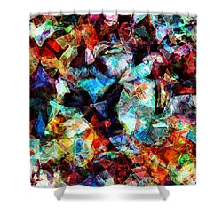 Shower Curtain featuring the digital art Colorful Abstract Design by Phil Perkins