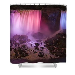 Colorful American Falls Shower Curtain by Adam Romanowicz