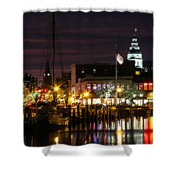 Colorful Annapolis Evening Shower Curtain