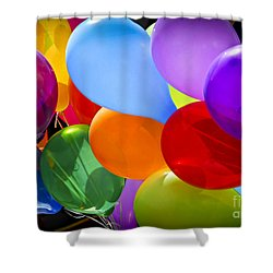 Colorful Balloons Shower Curtain by Elena Elisseeva