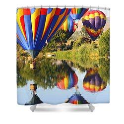 Colorful Balloons Fill The Frame Shower Curtain by Carol Groenen