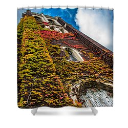 Colorful Bell Tower Shower Curtain