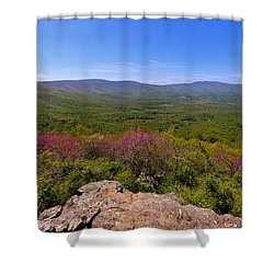 Colorful Blue Ridge Spring Shower Curtain