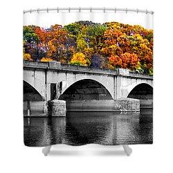 Colorful Bridge Shower Curtain