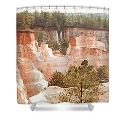 Colorful Georgia Canyon Wonder Shower Curtain by Belinda Lee
