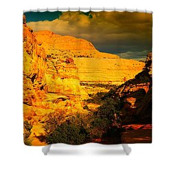 Colorful Capital Reef Shower Curtain by Jeff Swan