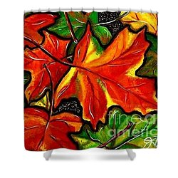 Shower Curtain featuring the painting Colorful Carpet by Jackie Carpenter