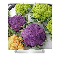 Shower Curtain featuring the photograph Colorful Cauliflower by Caryl J Bohn