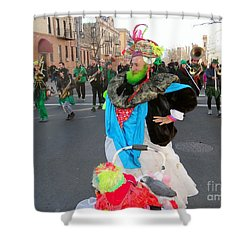 Colorful Character Shower Curtain by Ed Weidman