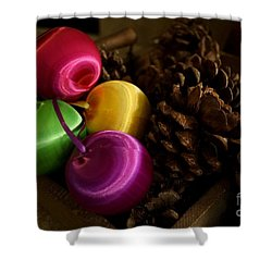 Colorful Christmas Balls Shower Curtain
