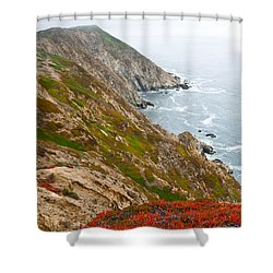 Shower Curtain featuring the photograph Colorful Cliffs At Point Reyes by Jeff Goulden