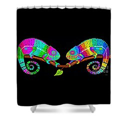 Colorful Companions Shower Curtain by Nick Gustafson