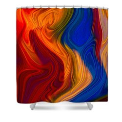 Colorful Compromises II Shower Curtain by Omaste Witkowski
