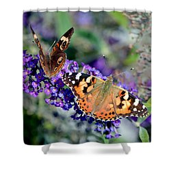 Colorful Cousins Shower Curtain by Deena Stoddard