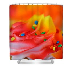 Colorful Cup Cake Shower Curtain by Darren Fisher