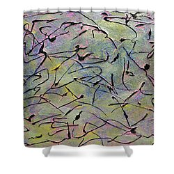 Colorful Dance Shower Curtain by Dolores  Deal