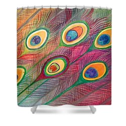 Colorful Delusions Shower Curtain