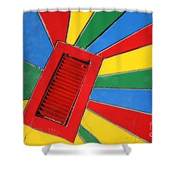 Colorful Drain Shower Curtain by James Brunker