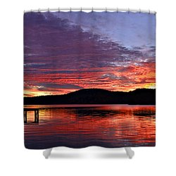Colorful Evening Shower Curtain by Susan Leggett
