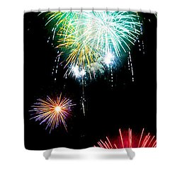 Colorful Explosions No3 Shower Curtain by Weston Westmoreland