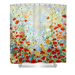 Colorful Field Of Poppies Shower Curtain