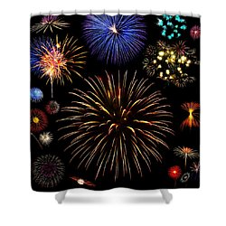 Colorful Are Fireworks Shower Curtain by Stanley Mathis