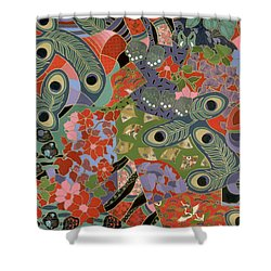 colorful floral art - Earthly Delights Shower Curtain