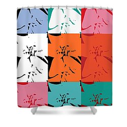 Colorful Flowers  Lily Shower Curtain