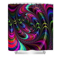 Colorful Fractal Art Shower Curtain