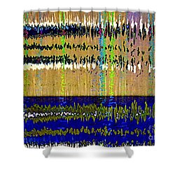 Colorful Frequency Shower Curtain