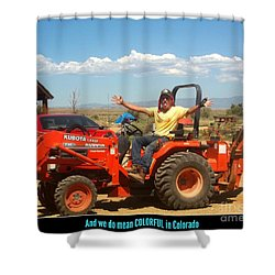 Colorful In Colorado Shower Curtain by Kelly Awad
