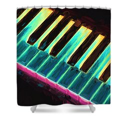 Colorful Keys Shower Curtain by Bob Orsillo