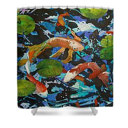 Colorful Koi Shower Curtain