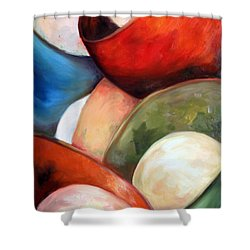 Colorful Lights Shower Curtain by Meaghan Troup