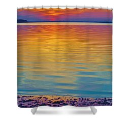 Colorful Lowtide Sunset Shower Curtain