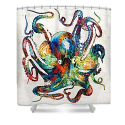 Colorful Octopus Art By Sharon Cummings Shower Curtain