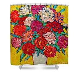 Colorful Peonies Shower Curtain by Ana Maria Edulescu