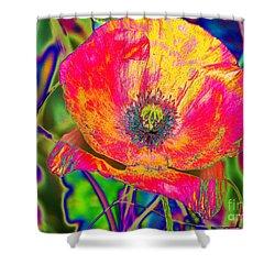 Colorful Poppy Shower Curtain by Carol Lynch