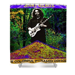 Shower Curtain featuring the photograph Colorful Pyramid Concert by Ben Upham