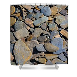 Colorful River Rocks Shower Curtain by Photographic Arts And Design Studio