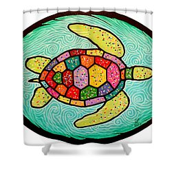 Colorful Sea Turtle Shower Curtain