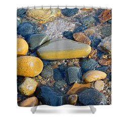 Colorful Shore Rocks Shower Curtain
