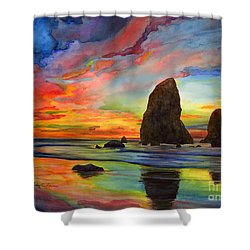Colorful Solitude Shower Curtain by Hailey E Herrera