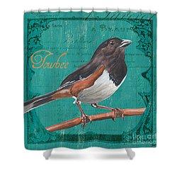 Colorful Songbirds 3 Shower Curtain by Debbie DeWitt
