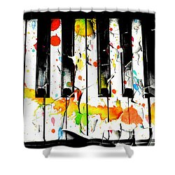 Colorful Sound Shower Curtain by Aaron Berg
