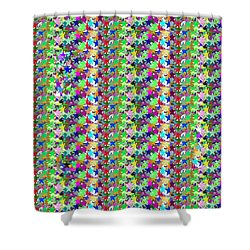 Shower Curtain featuring the photograph Colorful Star Graphics Decorations by Navin Joshi